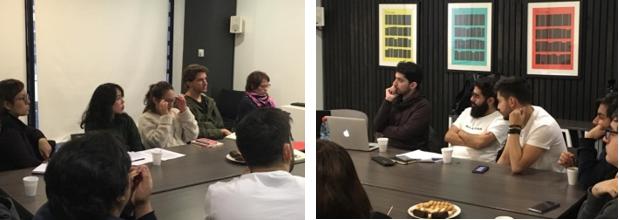 Participantes de la actividad escuchan atentamente la exposición de la Dra. Eva Hamamé Ahumada